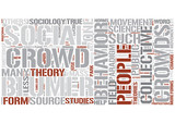 Collective behavior Word Cloud Concept