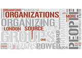 Community organizing Word Cloud Concept