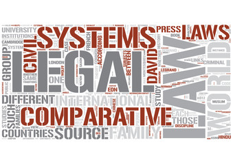Comparative law Word Cloud Concept