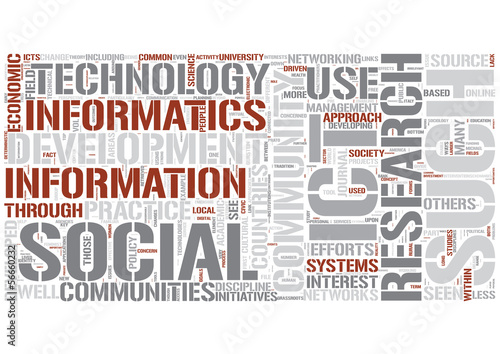 Community informatics Word Cloud Concept