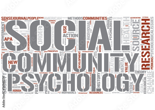 Community psychology Word Cloud Concept