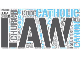 Canon law Word Cloud Concept