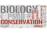 Conservation biology Word Cloud Concept