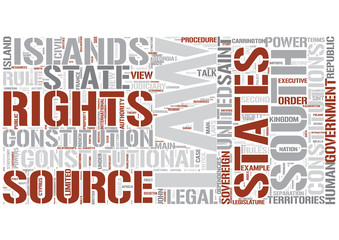 Constitutional law Word Cloud Concept