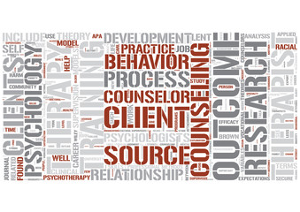 Counseling psychology Word Cloud Concept