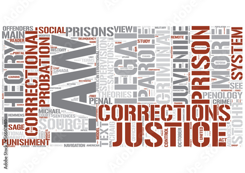 Corrections Word Cloud Concept