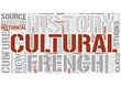 Cultural history Word Cloud Concept