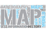 Cartography Word Cloud Concept poster
