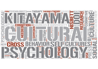 Cultural psychology Word Cloud Concept