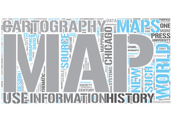 Cartography Word Cloud Concept