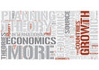 Development economics Word Cloud Concept