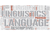 Descriptive linguistics Word Cloud Concept poster