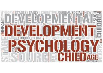 Developmental psychology Word Cloud Concept