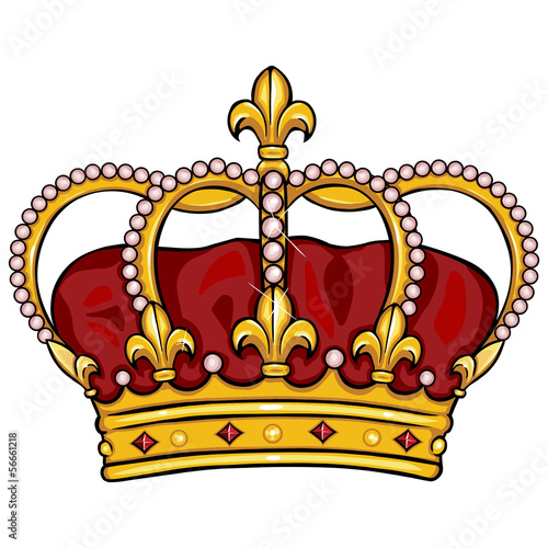 vector cartoon royal crown