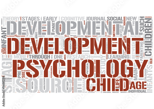Developmental psychology Word Cloud Concept