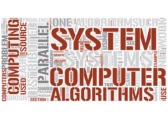 Distributed computing Word Cloud Concept
