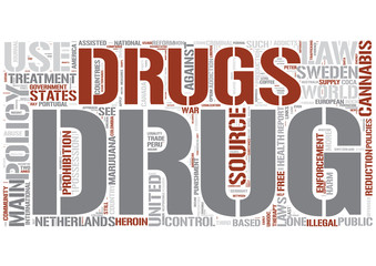 Drug policy Word Cloud Concept