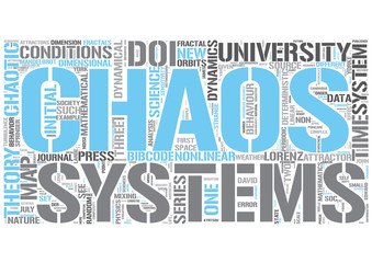 Chaos theory Word Cloud Concept