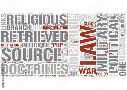 Doctrine Word Cloud Concept