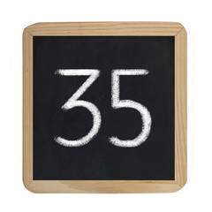 the number 35