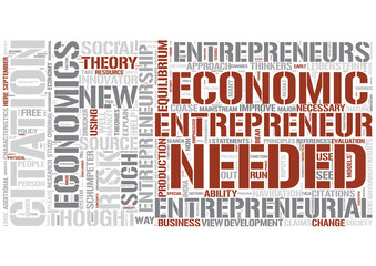Entrepreneurial economics Word Cloud Concept