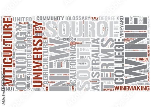 Enology Word Cloud Concept