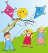 children and kites