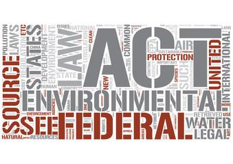 Environmental law Word Cloud Concept