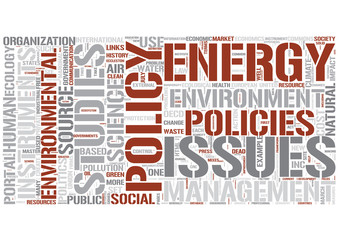 Environmental policy Word Cloud Concept