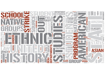 Ethnic studies Word Cloud Concept