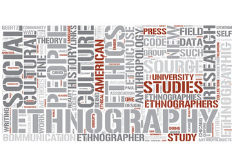Ethnography Word Cloud Concept