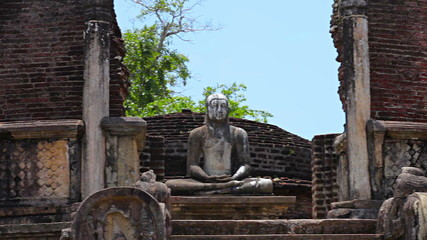 Ruins of an ancient Buddhist temple. Sri Lanka, Polonnaruwa