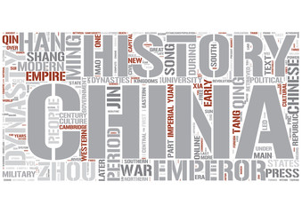 History of China Word Cloud Concept
