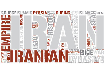 History of Iran Word Cloud Concept