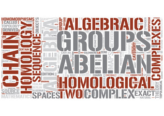 SumHomological algebra Word Cloud Concept