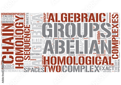 SumHomological algebra Word Cloud Concept