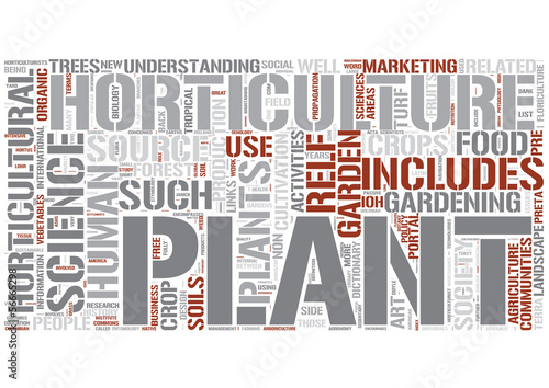 Horticulture Word Cloud Concept