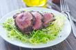 beef steak with fresh salad