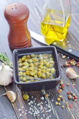 capers and aroma spice