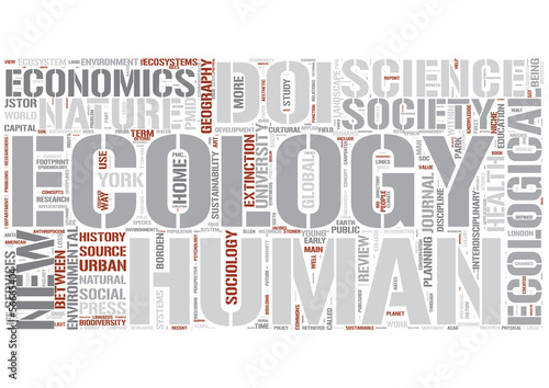 Human ecology Word Cloud Concept