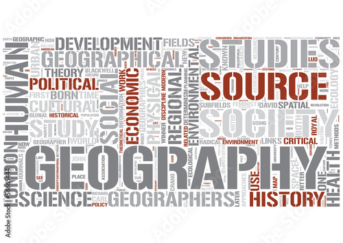 Human geography Word Cloud Concept