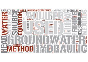 Hydrogeology Word Cloud Concept
