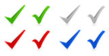 check mark 3d icon set