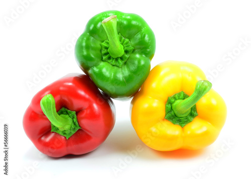 Isolated Mixed Peppers