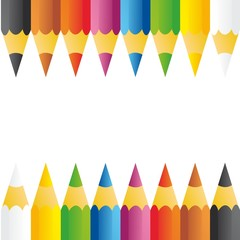 Background of pencils