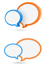 speech bubble 3d round