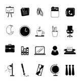 Office Icons Set - Isolated On White Background