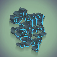 Happy Fathers Day Background And Lettering