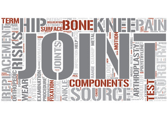 Joint replacement Word Cloud Concept