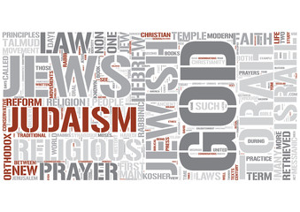Judaism Word Cloud Concept